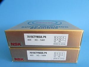 high temperature NSK7015CTYNSUL P4 ABEC7 Super Precision Contact Spindle Bearing (Matched Pair)