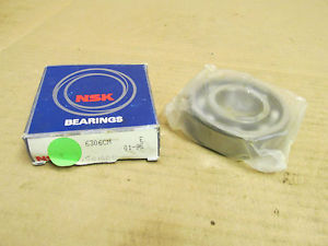 high temperature NIB NSK 6306CM BEARING NO SHIELDS 6306 CM 30x72x19 mm