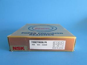 high temperature NSK7209CTYNSUL P4 Abec-7 Super Precision Angular Contact. can be match to pair