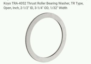 "high temperature Koyo TRA-4052 Thrust Roller Bearing Washer, TR Type, Open, Inch, 2-1/2"" ID,"