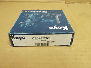 high temperature NIB KOYO 63092RSC3 BEARING DOUBLE RUBBER SHIELD 6309 2RS C3 63092RS 45x100x25 mm