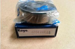 high temperature New Koyo Ball Bearing 6204 2RS C3 Rubber Shield Sealed Both Sides Deep Grooved