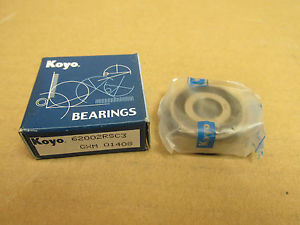 high temperature NIB KOYO 6200 2RS C3 BEARING DOUBLE RUBBER SHIELD 62002RSC3 62002RS 10x30x9 mm