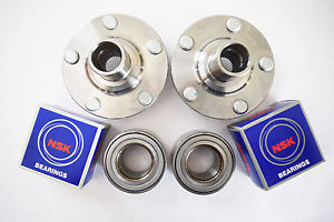 high temperature 2 NSK / KOYO Front Wheel Bearing & 2 Front Hub Set Toyota RAV 4 2001-2005
