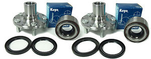 high temperature KOYO Wheel Bearing w/Autocom FRONT Hub Set  841-82002-Su-Im 04-07