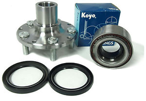 high temperature KOYO Wheel Bearing w/Autocom FRONT Hub  841-82002-Su-Le non-ABS 90-99