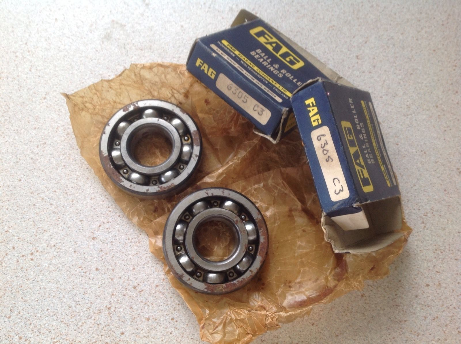high temperature Two  X  6305-C3 – FAG Ball & Roller Bearing