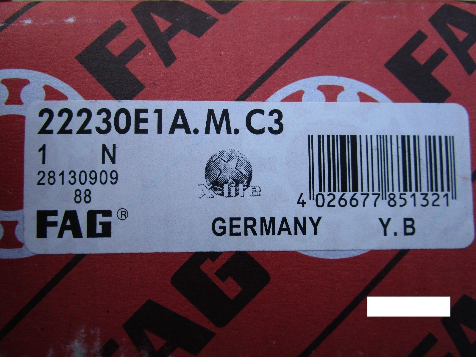 high temperature Fag 22230E1A.M.C3, 22230E 1A.M.C3, Spherical Roller Bearing(=2 SKF,NSK ,NTN,SNR)