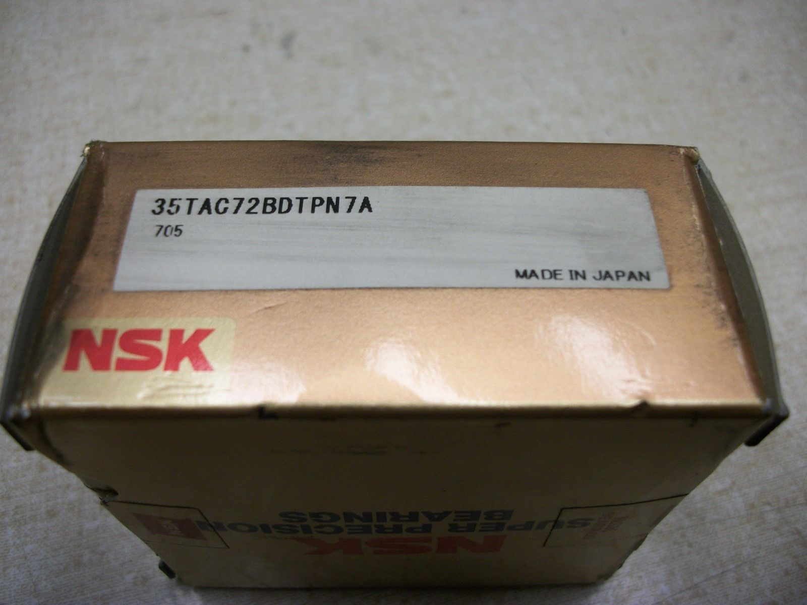high temperature NSK 35TAC72BDTPN7A Super Precision Dual Set of Ball Screw Support Bearings