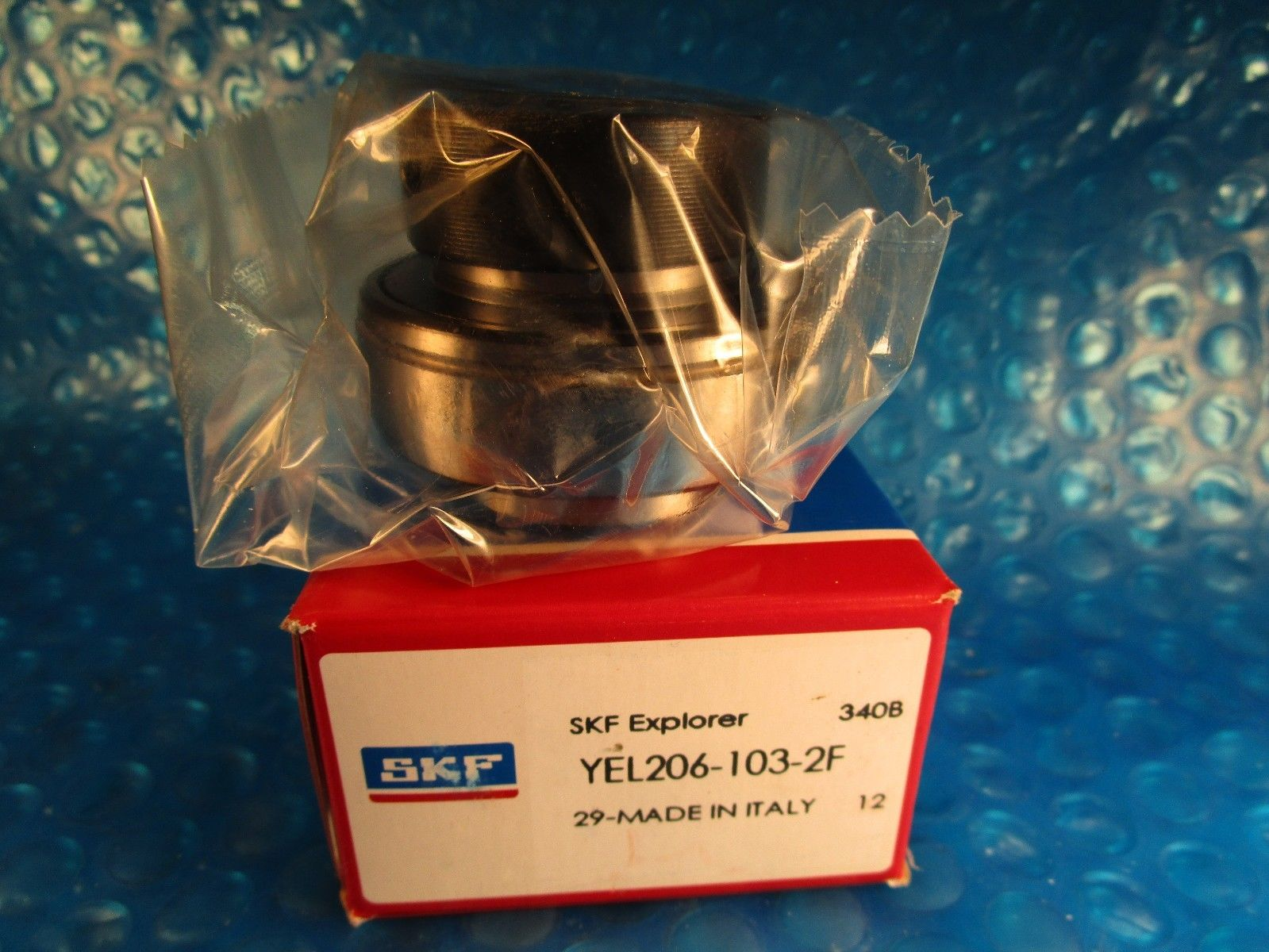 "high temperature SKF YEL206-103-2F, Ball Bearing Insert, 1-3/16"" x 62mm- Locking Eccentric Collar"