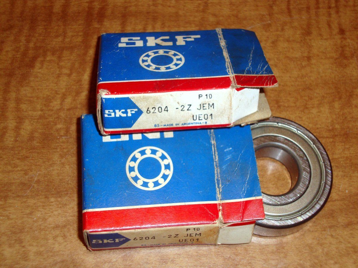 high temperature Pair SKF 6204 2Z C3 QE6 HT51 Ball Bearing Lot of 2 Free Shipping