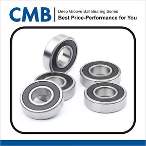 """high temperature 5pcs R8-2RS (1/2"""" x 1-1/8"""" x 5/16"""") Rubber Sealed Ball Bearings Bearing R8 2RS"""