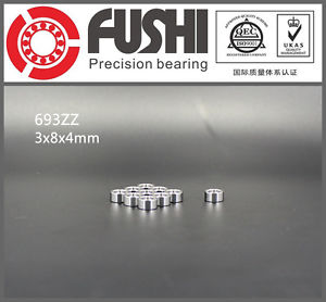 high temperature 693ZZ ABEC-7 (10PCS) 3x8x4mm Miniature Ball Bearings 619/3ZZ