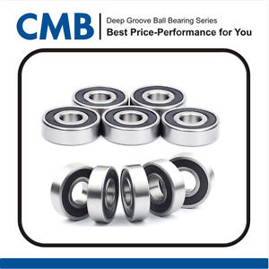 high temperature 10PCS 6202-10-2RS ( 6202-5/8 2RS ) Rubber Sealed Ball Bearing 15.875x35x11 mm