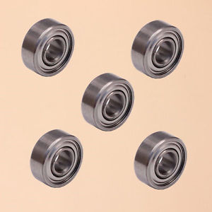 high temperature 5PCS MR83ZZ (3x8x3mm) Metal Shielded Ball Bearing Bearings MR83z