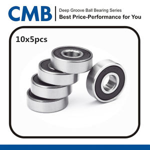 high temperature 50PCS 604-2RS Miniature Bearings Rubber Sealed Ball Bearing 4x12x4mm 604 2rs