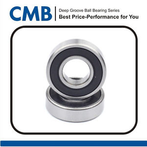 high temperature 2PCS 628-2RS Rubber Sealed Ball Bearing Miniature Bearing 628 2rs 8x24x8mm