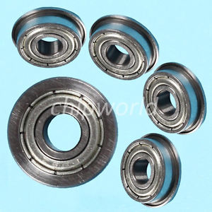 high temperature 5PCS F695zz Mini Metal Double Shielded Flanged Ball Bearings