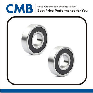 high temperature 2pcs 6304-2RS Deep Groove Ball Bearing 20 x 52 x 15mm Rubber Sealed Bearing New