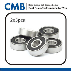 high temperature 10PCS 689-2RS Rubber Sealed Ball Bearing 689-2rs Miniature Bearing 9x17x5 mm