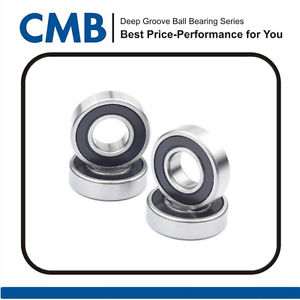 "high temperature 4pcs R6-2RS Rubber Sealed Ball Bearing R6 2rs Bearing 3/8"" x 7/8"" x 9/32"" inch"