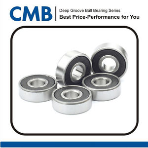 high temperature 5pcs 625-2RS C3 Miniature Bearing Double Rubber Sealed Ball Bearing 5 x 16 x 5mm