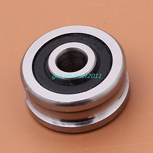 high temperature 2PCS Double Row Ball Track Guide Bearings SG66 6*22*10 U Groove