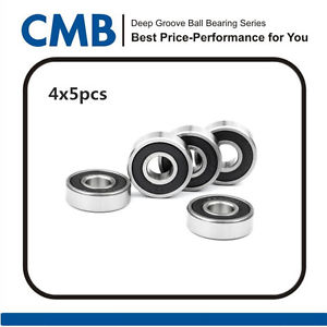 high temperature 20PCS 608-2RS C3 608-2rs C3 Rubber Sealed Ball Bearing 8x22x7mm