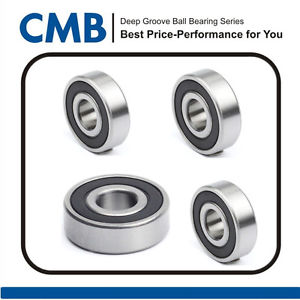 high temperature 4pcs 6301-2RS Rubber Sealed Ball Bearing 6301-2rs 12 x 37 x 12mm