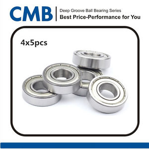 "high temperature 20PCS R6-ZZ R6ZZ Double Metal Shielded Ball Bearing 3/8"" X 7/8"" X 9/32"" inch New"