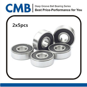 high temperature 10PCS Ball Bearing 6003-2RS C3 Rubber Sealed Ball Bearing 17 x 35 x 10mm
