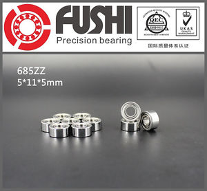 high temperature 685ZZ ABEC-5 (10PCS) 5x11x5MM  Miniature Ball Bearings 618/5ZZ