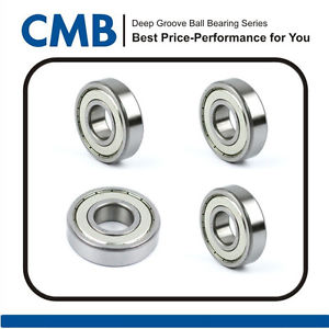 high temperature 4pcs 6907-2Z ZZ 6907ZZ Bearings Metal Shielded Ball Bearing 35 X 55 X 10mm