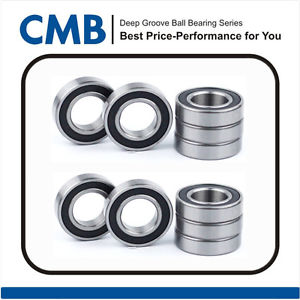 high temperature 10PCS 6301-2rs C3 Deep Groove Ball Bearing 12x37x12mm Rubber Sealed Bearing