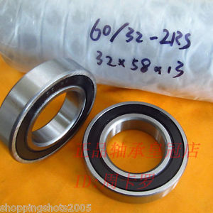 high temperature (2) 60/32-RS Deep Groove Ball Bearing Non standard 32x58x13 62/22RS 32*58*13