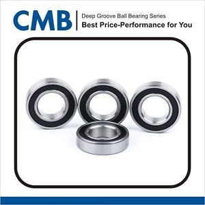 high temperature 4PCS 6303-2rs C3 Rubber Sealed Ball Bearing 17x47x14mm