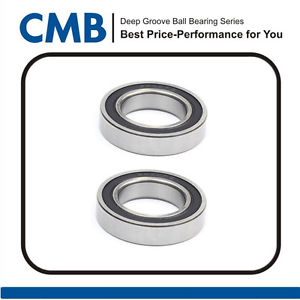 high temperature 2pcs 6910-2RS Deep Groove Rubber Sealed Ball Bearing 50x72x12mm