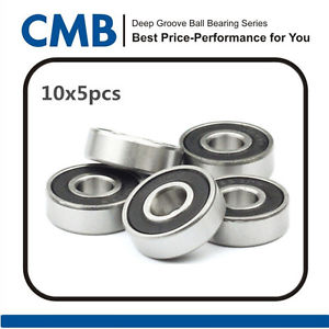 high temperature 50pcs 625-2RS Rubber Sealed Ball Bearing Bearings 5mm x 16mm x 5mm Brand New