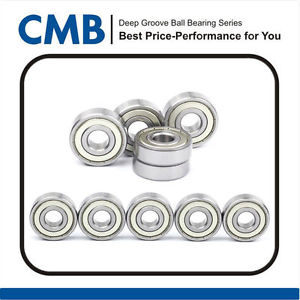 high temperature 10PCS 6202-ZZ 2Z Deep Groove Ball Bearing 15x35x11m Metal Shielded Bearings