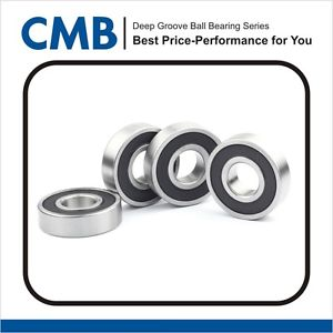 high temperature 4PCS 6205-2RS Deep Groove Ball Bearing Rubber Sealed 25x52x15mm