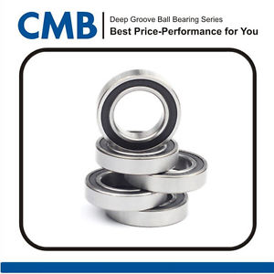 high temperature 5pcs 6906-2RS 6906-2rs Deep Groove Rubber Sealed Ball Bearing 30x47x9mm New