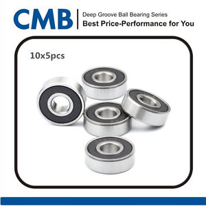 high temperature (Qty.50) 624-2RS Ball Bearing Double Rubber Sealed Bearing 624-2rs 4 x 13 x 5mm