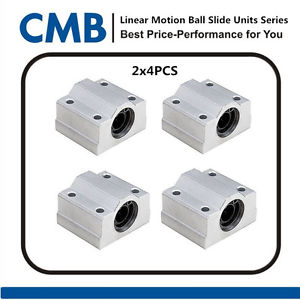high temperature 8pcs SC10UU SCS10UU 10mm Linear Ball Bearing Slide Unites Motion Bearing Block