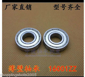 high temperature 50 pcs 16001-2Z Deep Groove Ball Bearing 12x28x7 12*28*7 mm bearings 16001ZZ ZZ