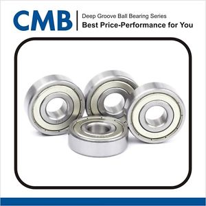 high temperature 4PCS 6206 ZZ 6206-2Z Double Metal Shielded Ball Bearing 30x62x16mm