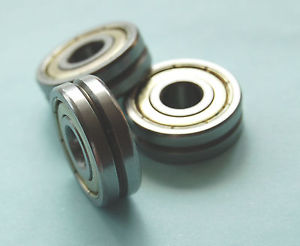 high temperature 5pcs 4mm 624VV 4*13*5 mm V Groove 120 degrees Sealed Ball Bearings V624zz -120