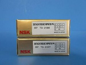 high temperature NSK20TAC47BSUC10PN7B P4 ABEC-7 High Precision Ball Screw Bearing. Matched Pair