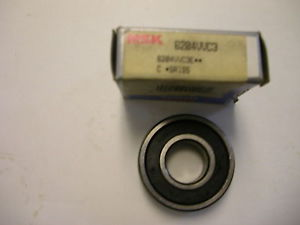 high temperature NSK 6204VVC3 DOUBLE SEAL BALL BEARING NIB
