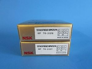 high temperature NSK15TAC47BSUC10PN7B P4 ABEC-7 High Precision Ball Screw Bearing. Matched Pair