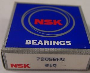 high temperature  NSK 7205BWG Angular contact ball bearing 8300 RPM